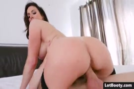 Brunette with big tits gets fucked in the ass.