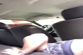 Sucking his dick in the car while my mom is home.